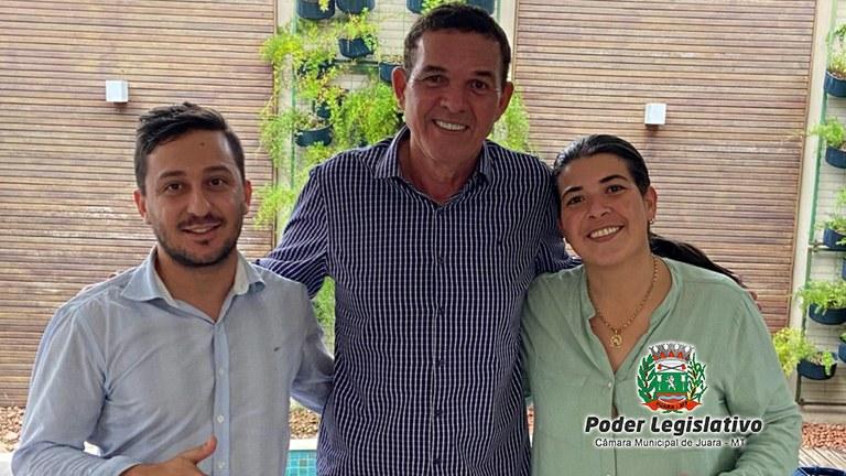 Deputado Federal Juarez Costa se compromete a destinar emenda de R$1.000.000,00 (um milhão de reais) em maquinários para Juara